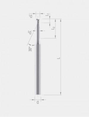 DIXI - 7237 Slot Drills, Extra Short Necked Down